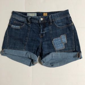 Anthropologie Pilcro Hyphen Patchwork Shorts
